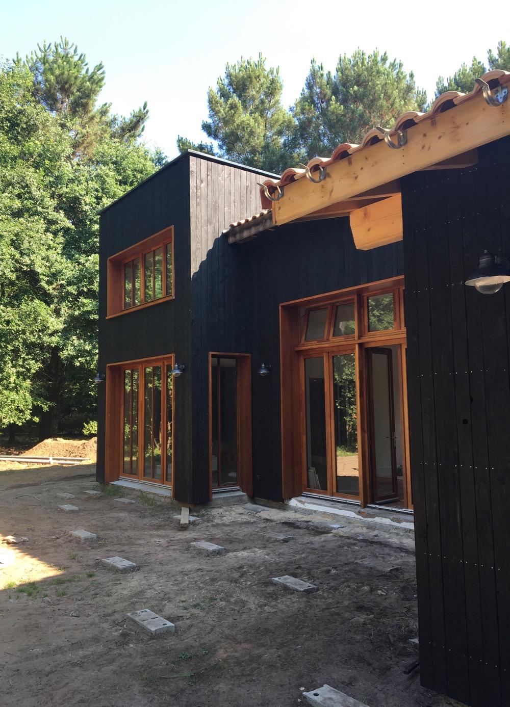 bardage bois brûlé - boisnoir - shou sugi ban FRANCE